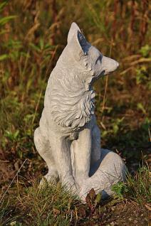 Steinfigur Fuchs, Tierfigur aus Steinguss, Gartendekoration - Vorschau 2