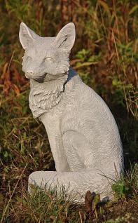 Steinfigur Fuchs, Tierfigur aus Steinguss, Gartendekoration - Vorschau 3