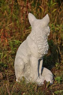 Steinfigur Fuchs, Tierfigur aus Steinguss, Gartendekoration - Vorschau 4