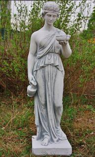 Steinfigur Hebe, klassiche Frauenfigur aus Steinguss