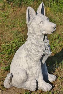 Steinfigur Schäferhund, Figur aus Steinguss, 60 cm Hoch!