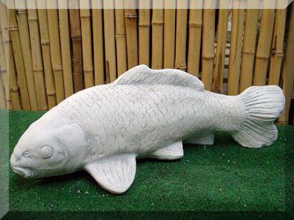 Steinfigur Fisch Koi, Tierfigur aus Steinguss Fische
