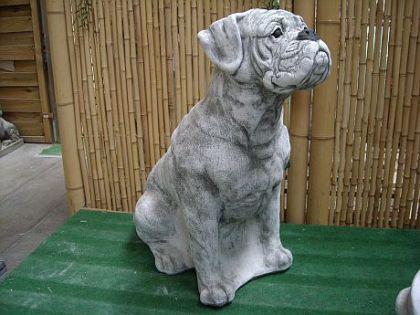 Skulptur Hund Boxer, aus Steinguss Hunde