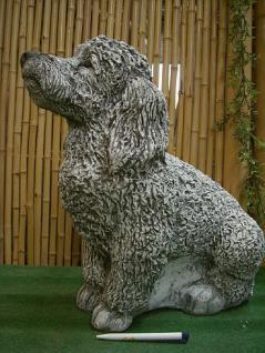 Pudel, Figur Hund aus Steinguss Hunde