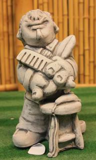 Steinfiguren Friseur, Figur aus Steinguss