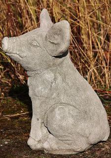 Steinfigur Schwein, Ferkel, Tierfigur aus Steinguss - Vorschau 2