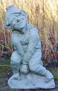 """Steinfigur Blütentroll """" Pixie Finley """", Fantasyfigur aus Steinguss"""