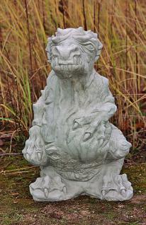 Steinfigur Drache Roland, Fantasyfigur aus Steinguss