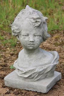 """Steinfigur Büste """" Melanie """", Skulptur aus Steinguss"""