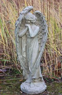 Steinfigur Erzengel, Engelsfigur aus Steinguss, Dekoration