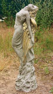Steinfigur Sonnenengel, Skulptur aus Steinguss, 93 cm hoch
