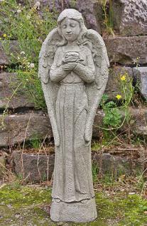 Steinfigur Engel Rose, Engelsfigur aus Steinguss, Dekoration