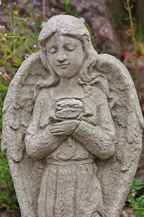 Steinfigur Engel Rose, Engelsfigur aus Steinguss, Dekoration - Vorschau 4
