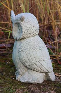 Steinfigur Uhu, Eule, Kauz, Tierfigur aus Steinguss, zur Gartendekoration - Vorschau 2
