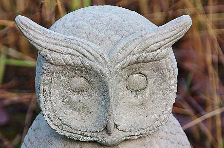 Steinfigur Uhu, Eule, Kauz, Tierfigur aus Steinguss, zur Gartendekoration - Vorschau 3