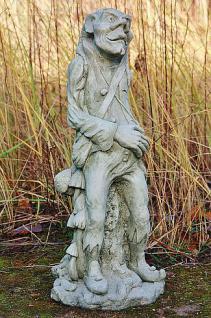 """Steinfigur Blütentroll """" Pixie Mushroom """", Fantasyfigur aus Steinguss"""