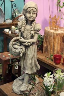 Steinfigur Rotkäppchen, Figur aus Steinguss, Märchenfigur, Steinfigur