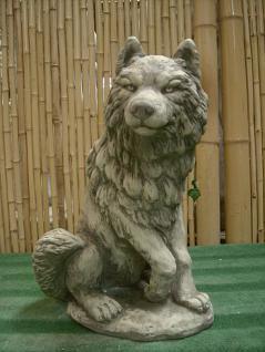 Steinfiguren Wolf, Figur aus Steinguss, Tierfigur, Steinfigur Wölfe ...