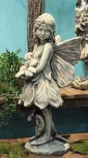 Steinfigur Blumenfee Schlüsselblume, Fee, Feen, Figur aus Steinguss
