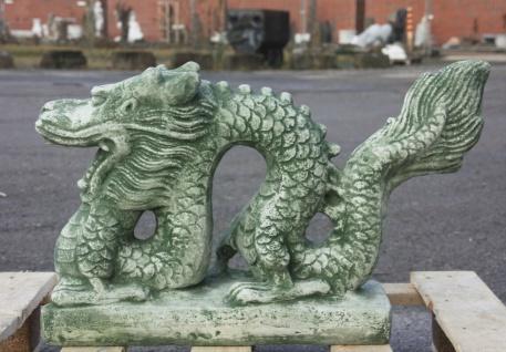 CHINESICHER DRACHE aus STEINGUSS GARTENDEKORATION CHINA FROSTFEST NEU PO-1790