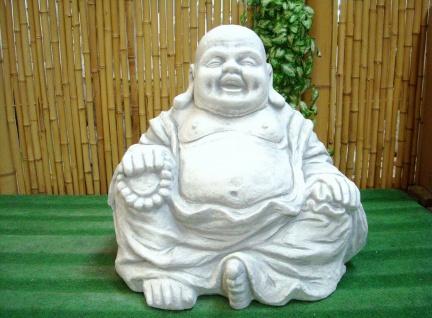BUDDHA SITZEND aus STEINGUSS FROSTFEST NEU für GARTEN & TEICH DEKORATION PO-821