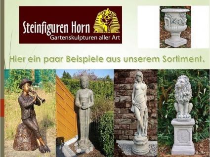 LÖwe Mit Sockel Aus Steinguss Für Garten Frostfest Figuren Tier 1552upo-74 - Vorschau 3