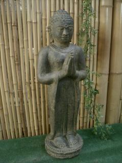 BUDDHA HANDHALTUNG BEGRÜSSUNG FENG SHUI für KOI TEICH, STEINGUSS AP-STB-080-af
