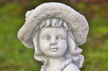 Steinfigur Mädchen Mädchen Mädchen mit Pflanzkorb, bepflanzbar, Figur aus Steinguss e289b7