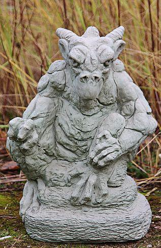 Steinfigur Gargoyle Kenzie, Fantasyfigur aus Steinguss Steinguss Steinguss b8b615