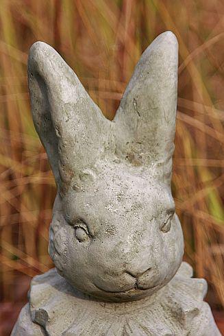 Steinfiguren Steinfiguren Steinfiguren Herr & Frau Hase als Set, Tierfiguren aus Steinguss 3763ce