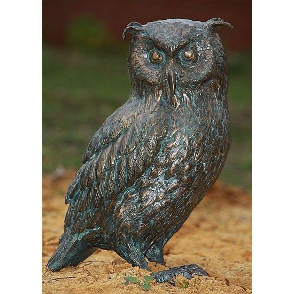 Bronze Eule Vogel VÖgel Eulen Tier Tierfigur Tiere Kautz Uhu Garten Neu  Ro 20