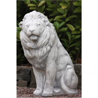 Steinfigur Löwe, Tierfigur aus Steinguss Löwen