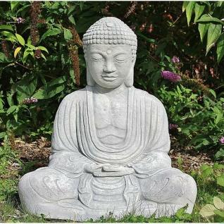 BUDDHA SKULPTUR STEINGUSS TEICH FROSTFEST FIGUR FIGUREN BUDDHAS AFST-SB7-65WA