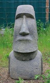 OSTERINSEL KOPF 100 cm HOCH FIGUR STEINGUSS HOHLGUSS FROSTFEST APL-Moai-100af