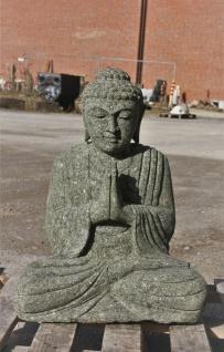 BUDDHAFIGUR FIGUR BUDDHA GARTENDEKO NATURSTEIN BASANIT FROSTFEST NEU GE-1175247