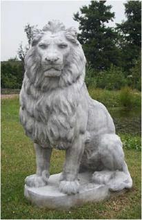Steinfiguren Löwe Lebensgroße Skulptur links blickend, Löwen