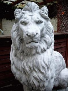 Steinfiguren Löwe Lebensgroße Skulptur links blickend, Löwen - Vorschau 2