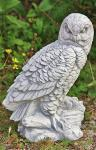 Steinfigur Eule aus Steinguss Eulen Vogel Vögel