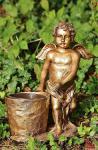 Figur Engel mit Blumentopf, zum bepflanzen