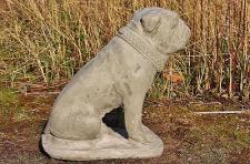 Steinfigur Bulldogge Tim, aus Steinguss Hund Hunde