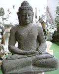 Steinfiguren Buddha, sitzend, aus Lavastein, handarbeit