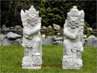 Steinfiguren Bali Wächter als Set, Figuren aus Steinguss