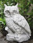 Steinfigur Eule groß, 50 cm hoch, Figur aus Steinguss Frostfest Eulen Vogel Vögel