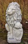 Steinfigur Löwe, Tierfigur aus Steinguss Löwe