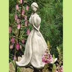Steinfigur Blütentänzer Abutilon, Figur aus Steinguss