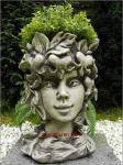 Steinfiguren Blütentopf Tränendes Herz, Blumentopf aus Steinguss