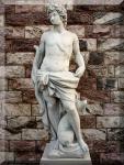 Steinfigur Griechischer Gott der Jagd Neu