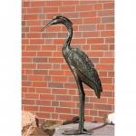 Bronzefigur Fischreiher, Tierfigur aus Bronze Reiher Vogel Vögel