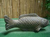 Steinfigur Fisch, Tierfigur aus Steinguss