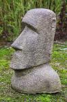 Steinfigur Osterinsel Kopf, 40 cm hoch, Hohlguss, Witterungsbeständig, Frostfest